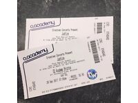 2x Tickets for Justice at O2 Academy Brixton (Balcony) - £50 for both - Friday 29th September