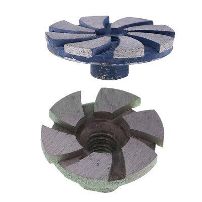 2 Pcs Diamond Segment Grinding Wheel Cup Marble Disc Grinder Granite Stone