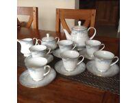 Genuine Noritake Avalon Fine Chine Tea Service in excellent condition.
