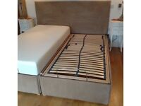 King size electric orthopaedic bed , with memory foam mattresses.suede like headboard .