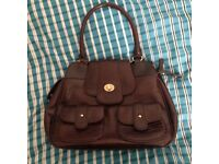 Ted Baker Brown Faux Leather Tote Bag