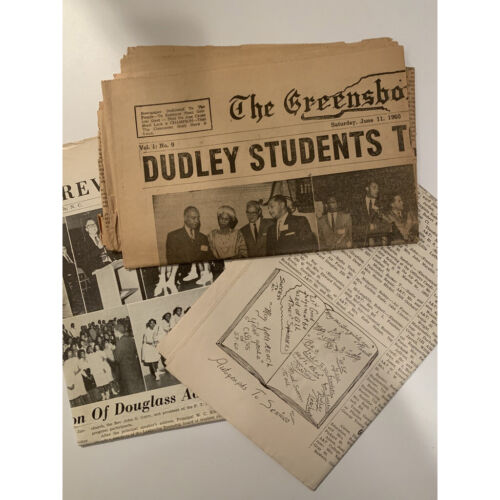Vintage Newspaper (3). The Greensboro Champion - Dudley H.S Protest - 1960