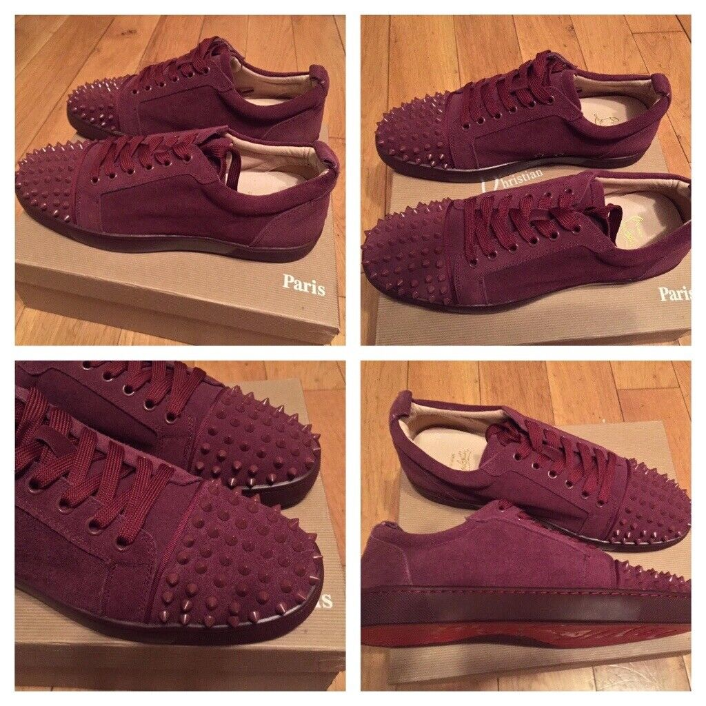 new arrival 0cb56 c77be Christian Louboutin Burgundy Low Top Trainers Red Bottom Shoes Men's Boys  Loubs Various Size | in Stratford, London | Gumtree