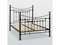 King Size Metal Bed Frame - Victorian Style