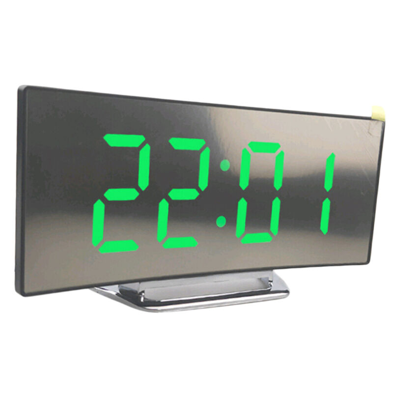 7in+Table+Alarm+Clock+LED+Digital+Mirror+Surface+Clock+for+Elderly%2C+Easy+to+Read