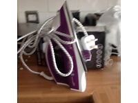 Brand new Russell hobbs supreme steam iron purple with box