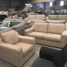 Brand new beige 3 + 1 seater sofa suite
