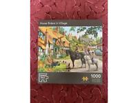 Horse Rider in Village 1000pc jigsaw