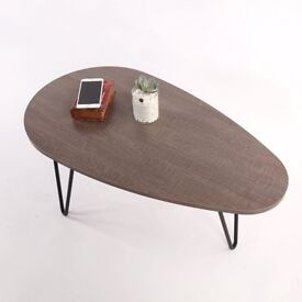 STELLA Oval Walnut Coffee Table with hairpin legs