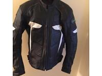 RIDEX Leather Motorbike Jacket Size (L) fully armoured, elbow, shoulder and back