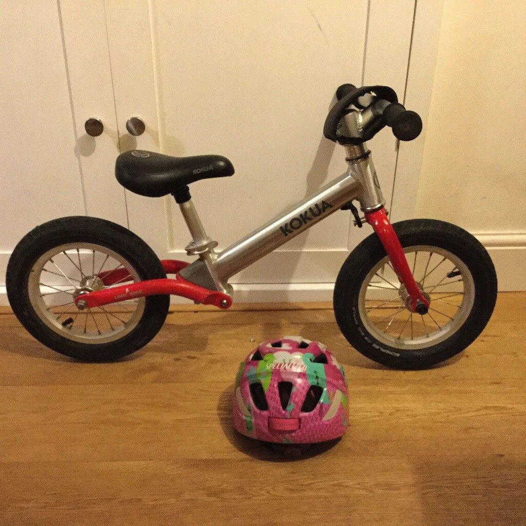 Kokua toddler balance bike and helmet