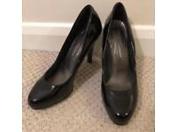 Marks and Spencer black patent shoes