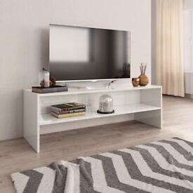 TV Cabinet High Gloss White 120x40x40 cm Chipboard-800042