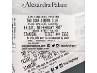 2 x Standing Tickets for Two Door Cinema Club at Ally Pally on 10th Feb
