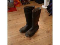 Men's Size 10 Wellingtons - Steel toecap and midsole