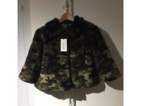 New - Faux Fur Coat by Denny Rose - Size S
