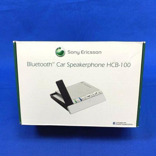 Sony Ericsson HCB-100 Bluetooth Handsfree Car Speakerphone w/ Box Charger Manual