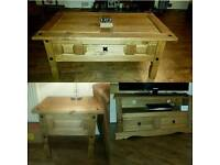 Matching coffee table, TV unit and side table