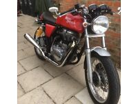Royal Enfield Continental GT, a superb example of a very low mileage, modern classic Cafe racer.