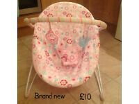 Brand new baby girls bouncer