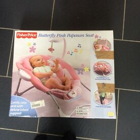 Fisher Price Pink Butterfly Papsan Seat