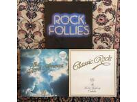 Classic Rock 1&2. Rock Follies vinyl albums
