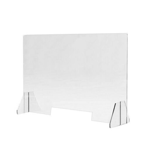 Sneeze Guard Acrylic Shield Table Desk Counter Clear Protective Portable Guard