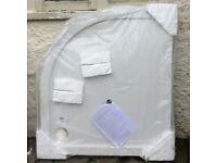Victorian Plumbing Corner shower tray 100cm x 90cm, brand new in packaging