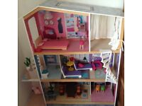 Large Dolls House - 120cm High for Barbie/Cindy