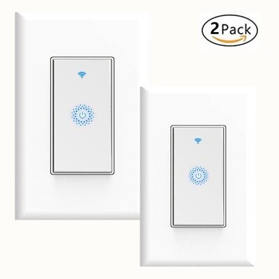 Smart Wifi Light Switch 2 Pack Works With Alexa Google Home Android Ios Ifttt