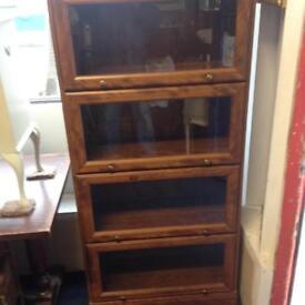 Glass / Wood Veneered 4 Shelf Storage/ Display Cabinet