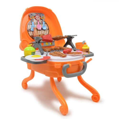 Kinder Kinder Grill Grill Pretend Play Spielzeug Set w / Musik & Licht