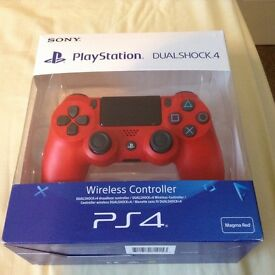 LOOK LIKE NEW USED TWICE BOXED GENUINE SONY MAGMA RED VERSION 2 PS4 WIRELESS CONTROLLER