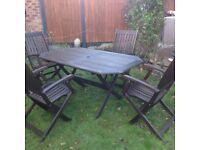Hardwood Patio Table & Chairs - large