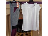 woman active leggings and top