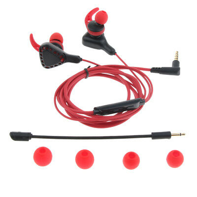 Gaming Earphones Earbuds Kopfhörer mit Mikrofon und Lautstärkeregler für