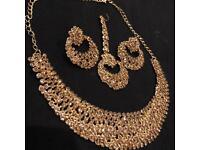 Asian costume gold jewelry set