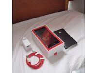 OnePlus 3T - 64GB - Gunmetal - PRISTINE - Leather Case