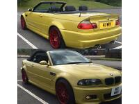 BMW M3 Convertible SMG 3.2 2003 Very rare Phoenix yellow , Comes with M3 private plate
