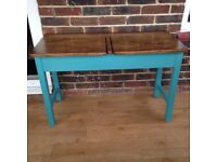 Vintage reclaimed school desk dressing table
