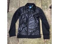 Adidas black zip up jacket size small