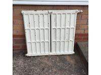 5 cast iron radiators - authentic originals