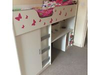 High sleeper cabin bed