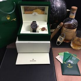 Black Rolex Yachtmaster everose With Rubber Strap Comes Rolex Bagged and Boxed with Paperwork