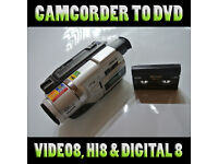 """Keep Your Memories Alive"" Hi8, Video 8, Digital8 camcorder tapes to DVD for just £6.00 per tape"