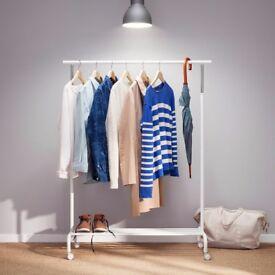 Ikea RIGGA clothing rack in white