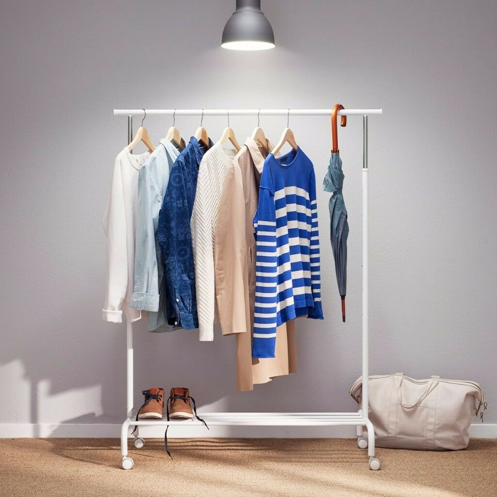 Ikea rigga clothing rack in white in fulham london for Ikea clothes rack