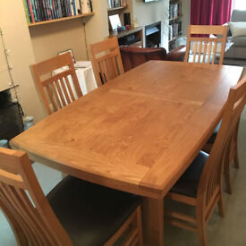 John Lewis Burford Dining Room Table (extendable) and Six Chairs