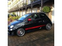 Abarth 595 Turismo convertible Black with leather interior only 15,000miles car in stunning