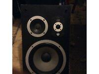 warfedale 100 watt laser range speakers